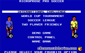 MicroProse Pro Soccer
