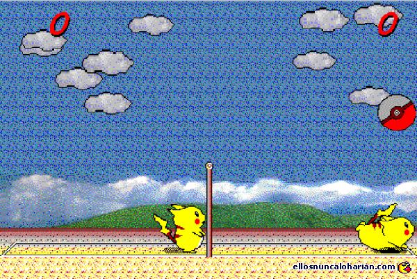 Resultado de imagen de pikachu voley